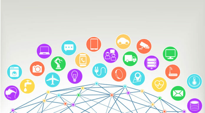 Internet of things (Iot)  illustration background.Icons / symbols for various connected devices | © Nils Ackermann | Dreamstime Stock Photos