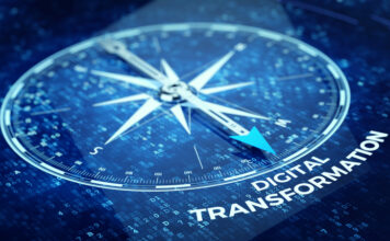 Digital Transformation concept - Compass needle pointing Digital Transformation word | © Sashkinw | Dreamstime Stock Photos