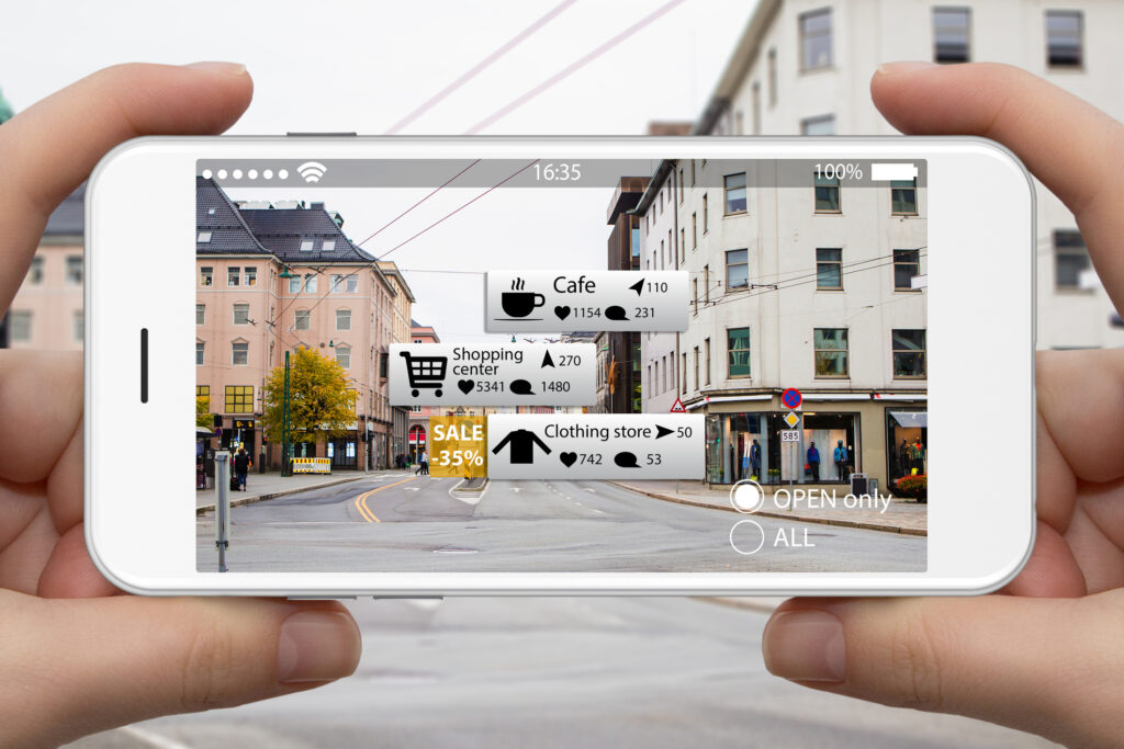 Augmented reality in marketing.