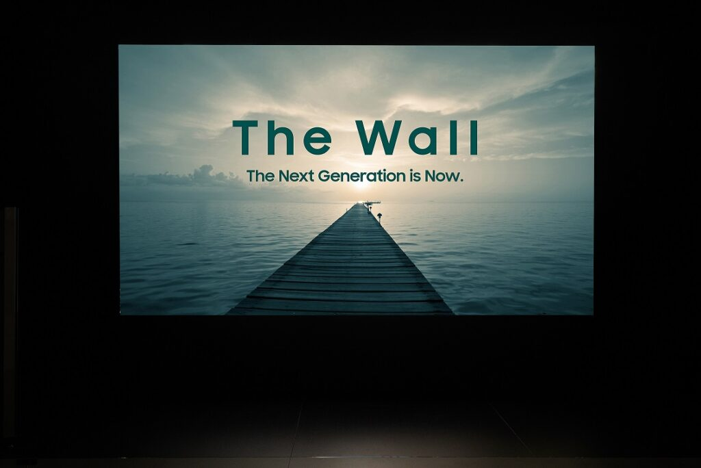 The Wall Professional, Una parete virtuale per il visual display di Samsung
