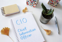CIO Chief Information Officer written in notebook