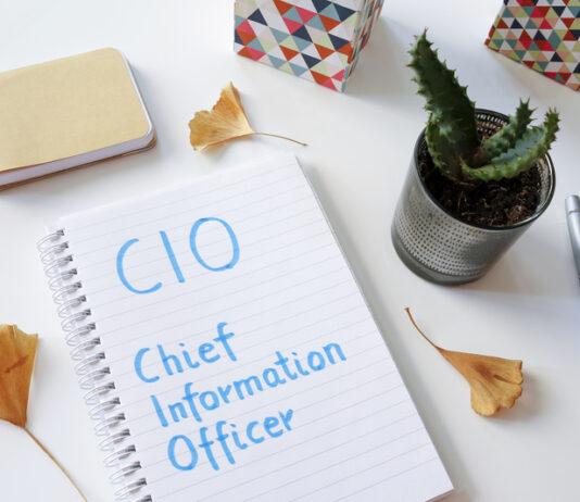 CIO Chief Information Officer written in notebook
