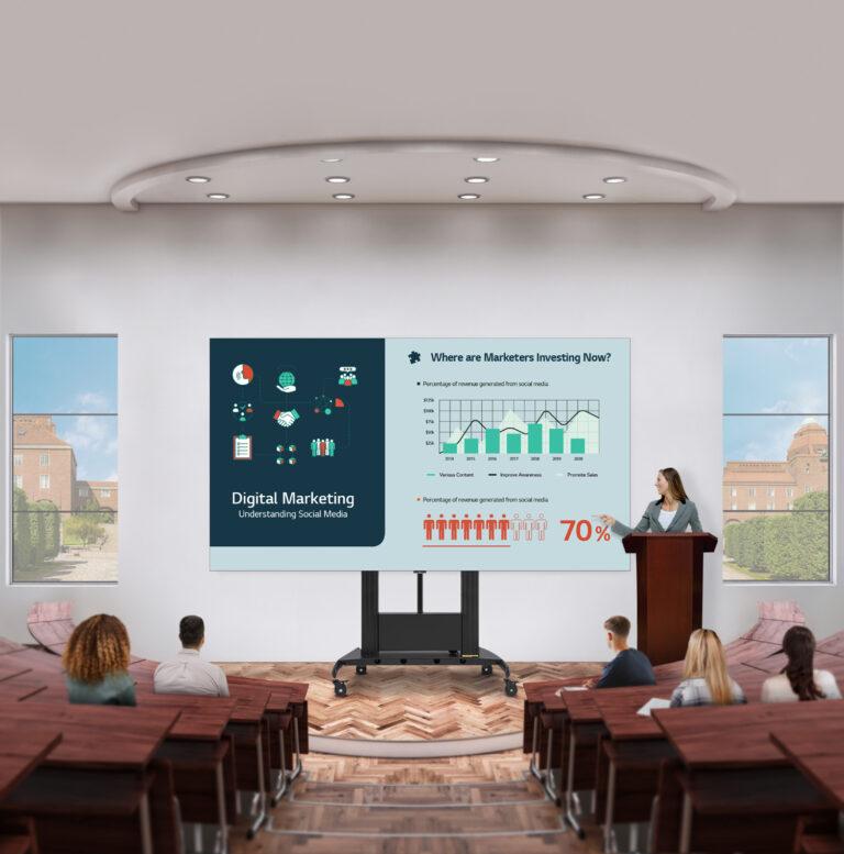 LG presenta il LED screen 136″ per le grandi sale riunioni